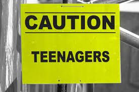 caution teenagers
