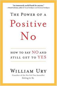 "book image ""the power of a positive no"""