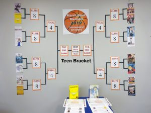 March Book Madness Teen Display